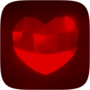 Red hearts Instagram AR filter icon