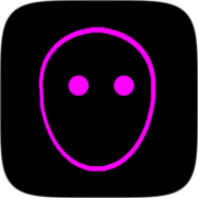 Black Neon Instagram AR filter icon