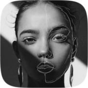 Face Sketch filter review by Nastia Brovko